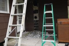 Ladders At Kitchen Door