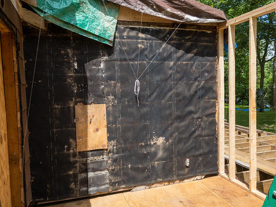 Siding Removed - Exterior Wall Demolition