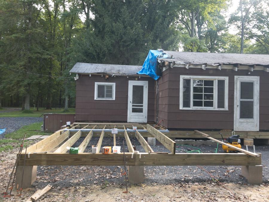 Floor Framing Lumber - Porch Floor Joists