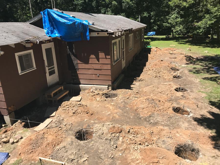 Footer Holes Concrete Pour