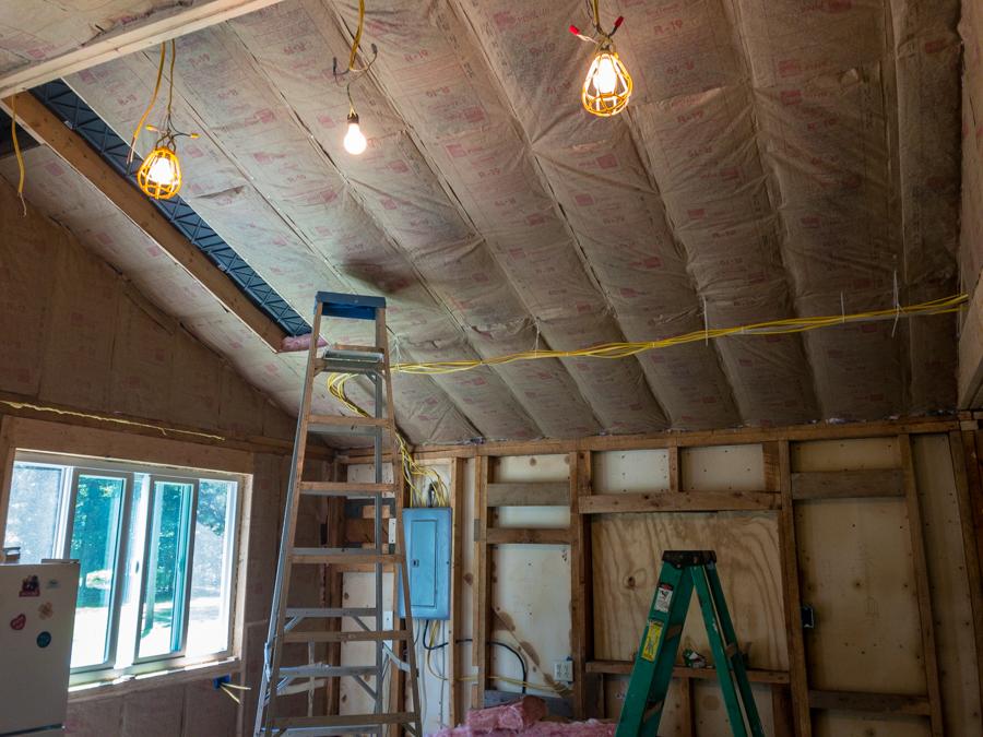 Kitchen Ceiling Insulation Take 2!