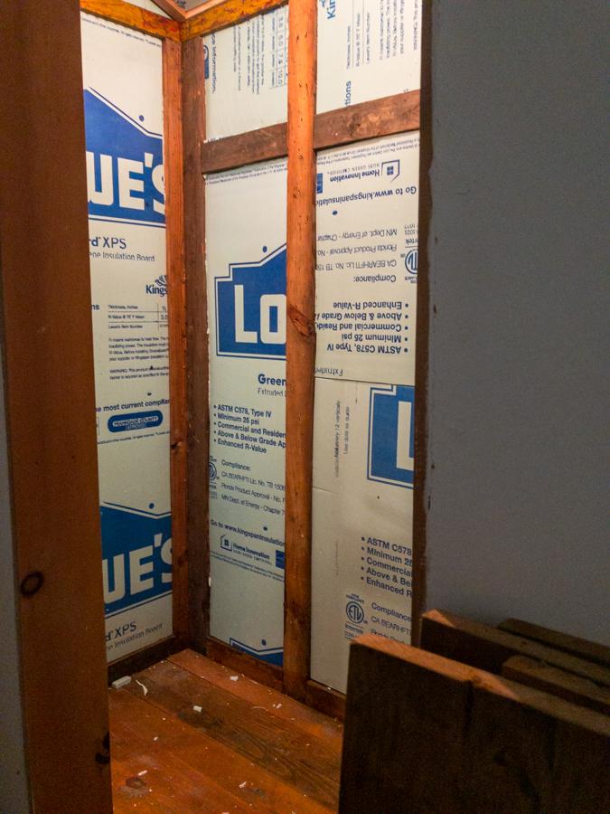 Closet Interior Rigid Insulation