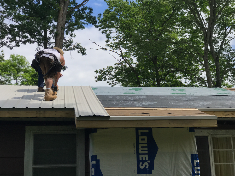 New Roof Closet Bump Out