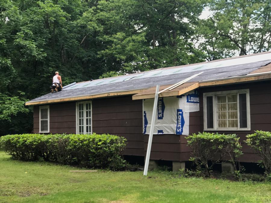 New Roof Backside