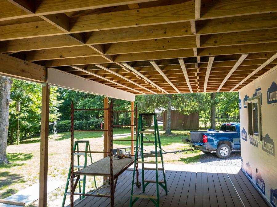 PVC Beam Cover - Porch Ceiling