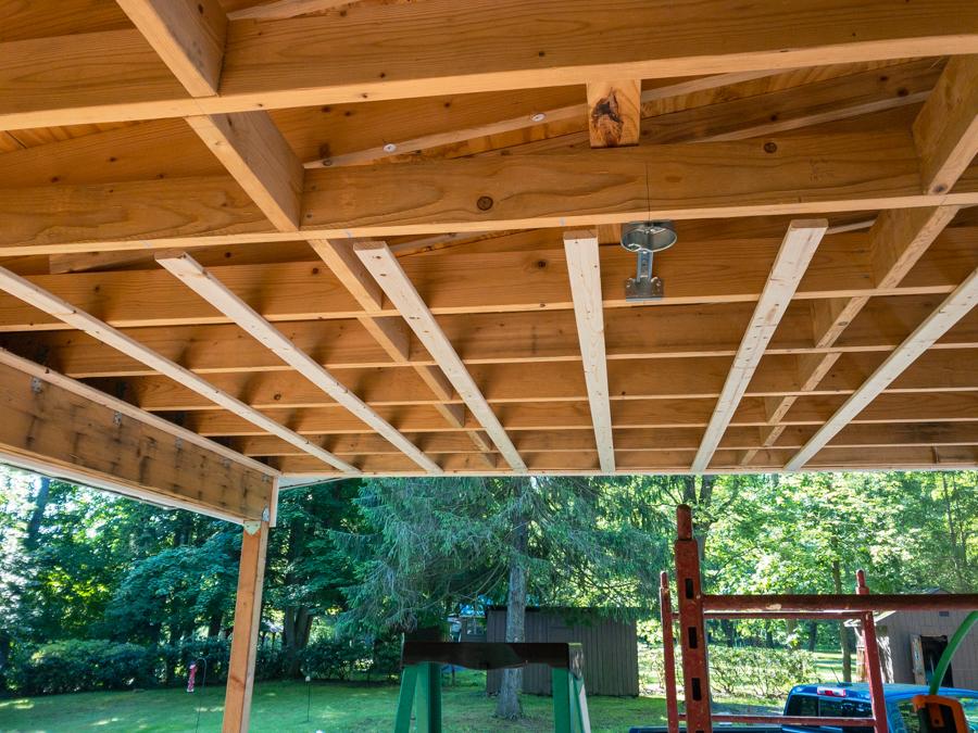 Furring Strips - Porch Ceiling