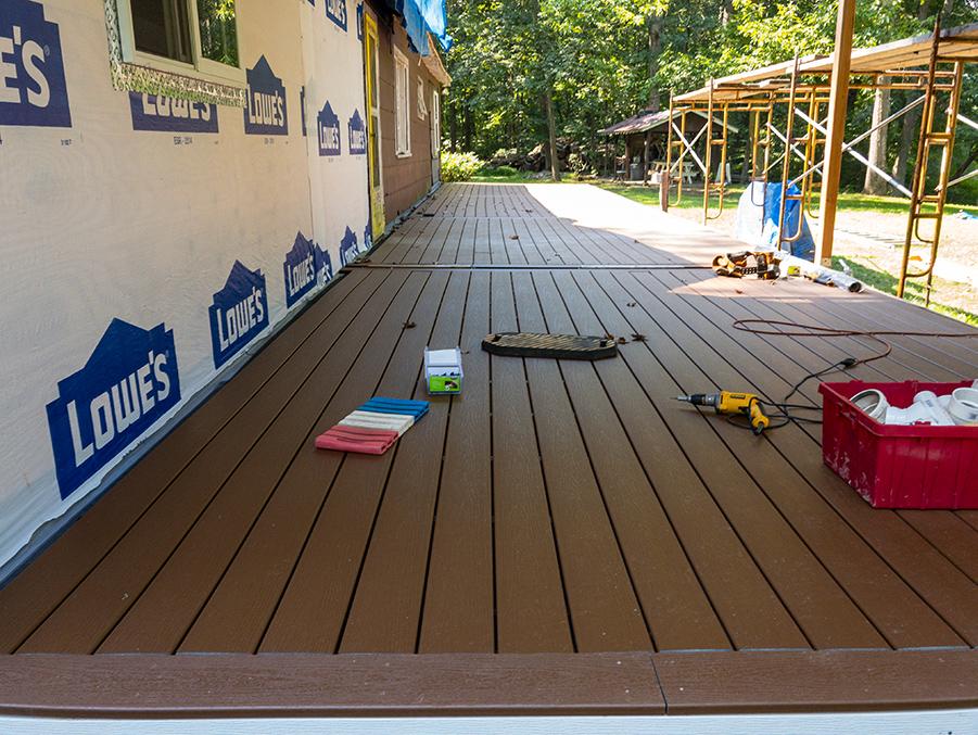 Porch Decking Complete