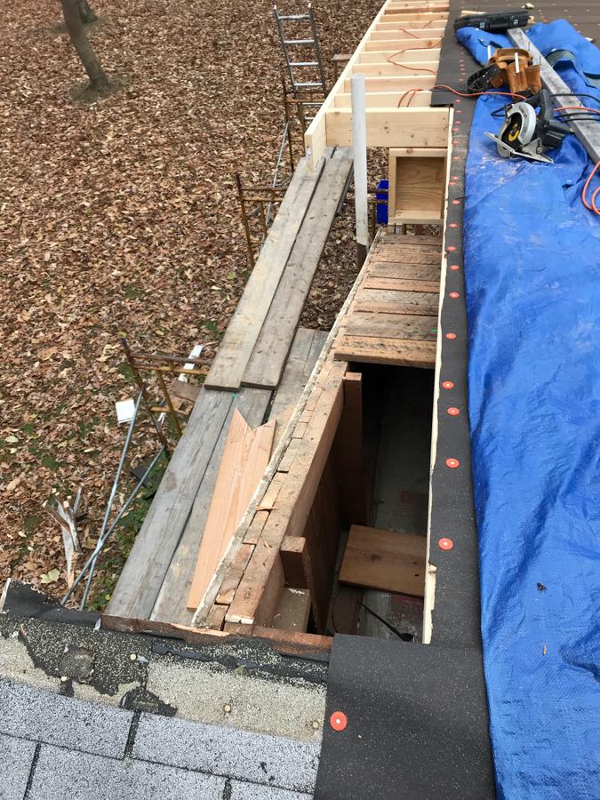 Exiting Overhang Demolition