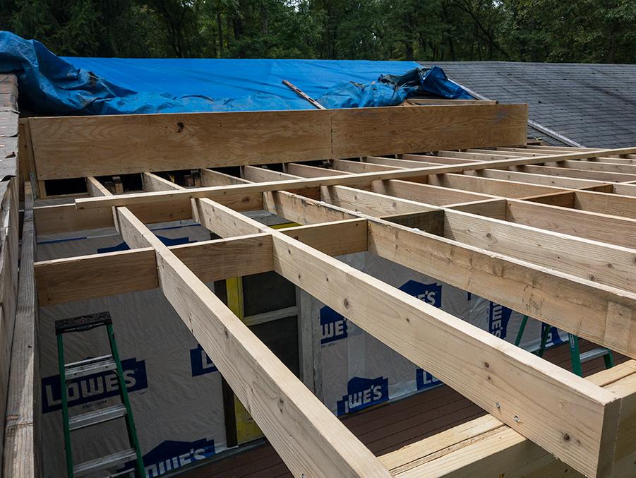 Mid Span Knee Wall - Plywood Facing
