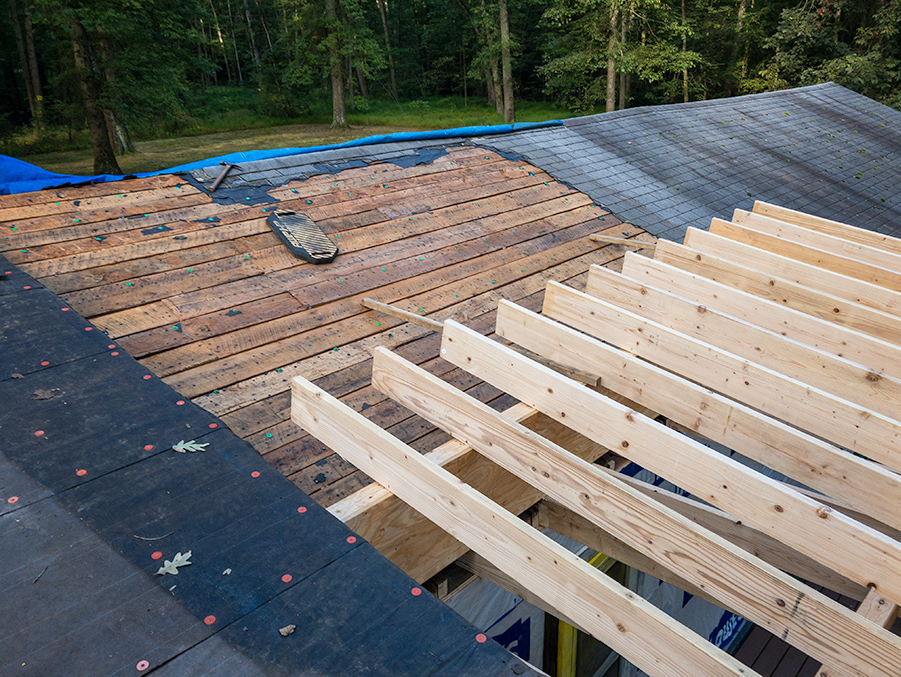 Roof Rafters First Span