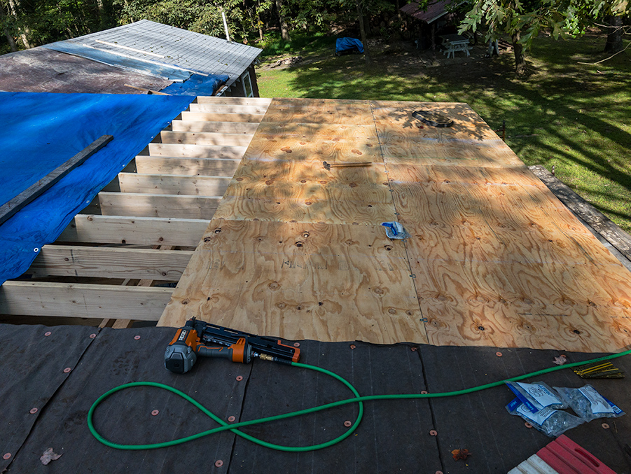 Plywood Roof Decking