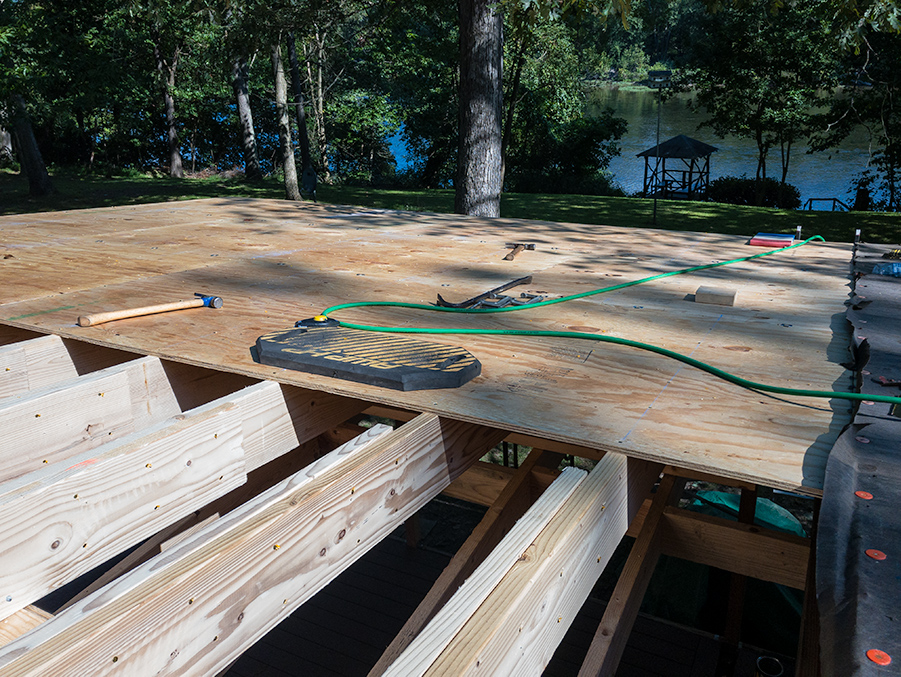 Plywood Roof Deck