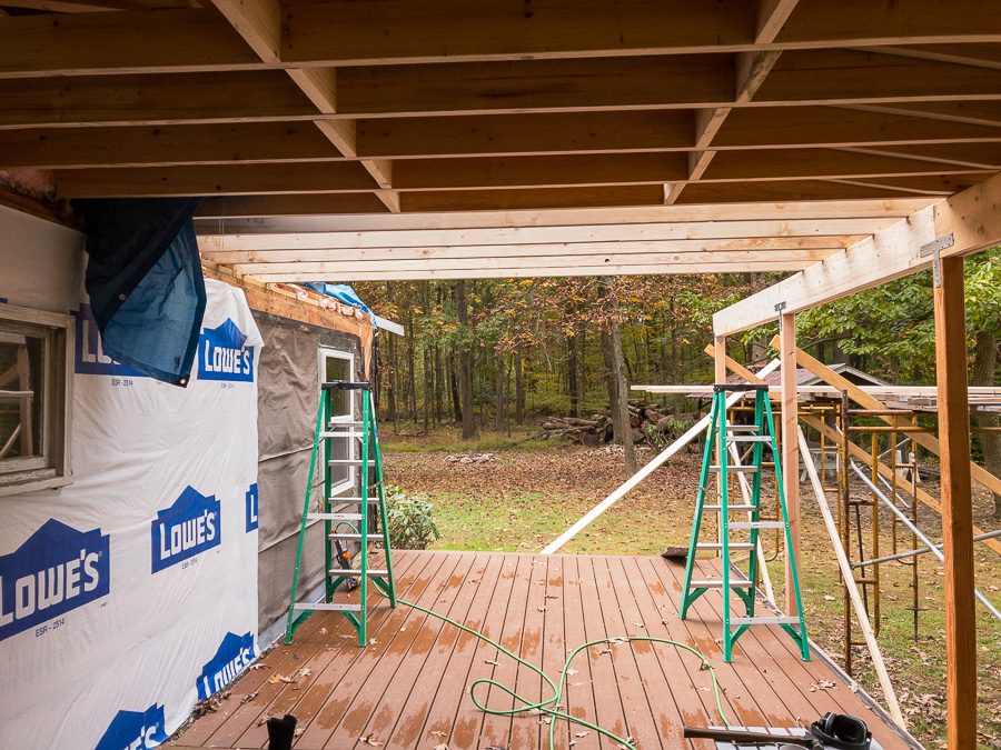 Ceiling Joists Porch Roof Section Three