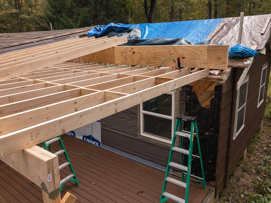 Plywood Gusseting - Roof Rafters Section Three