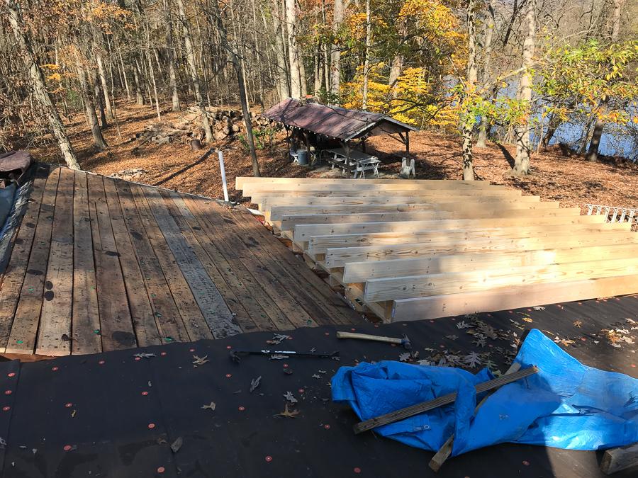 Old Oak Roof Planking