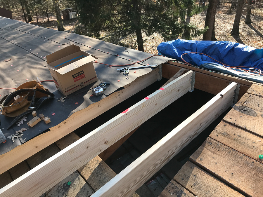 2nd Span Roof Rafters