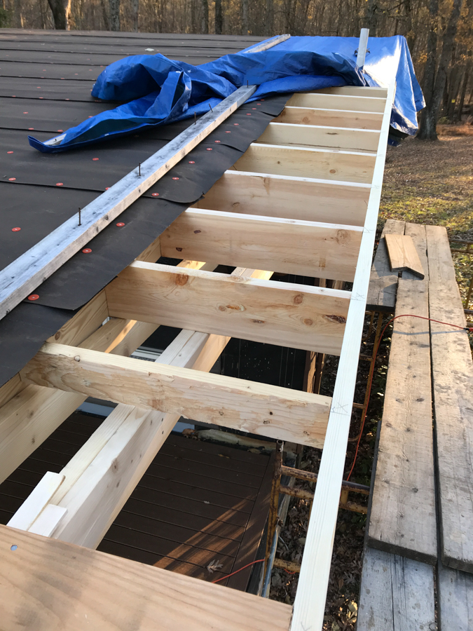 Outriggers and Edge Joist - Porch Roof Overhang