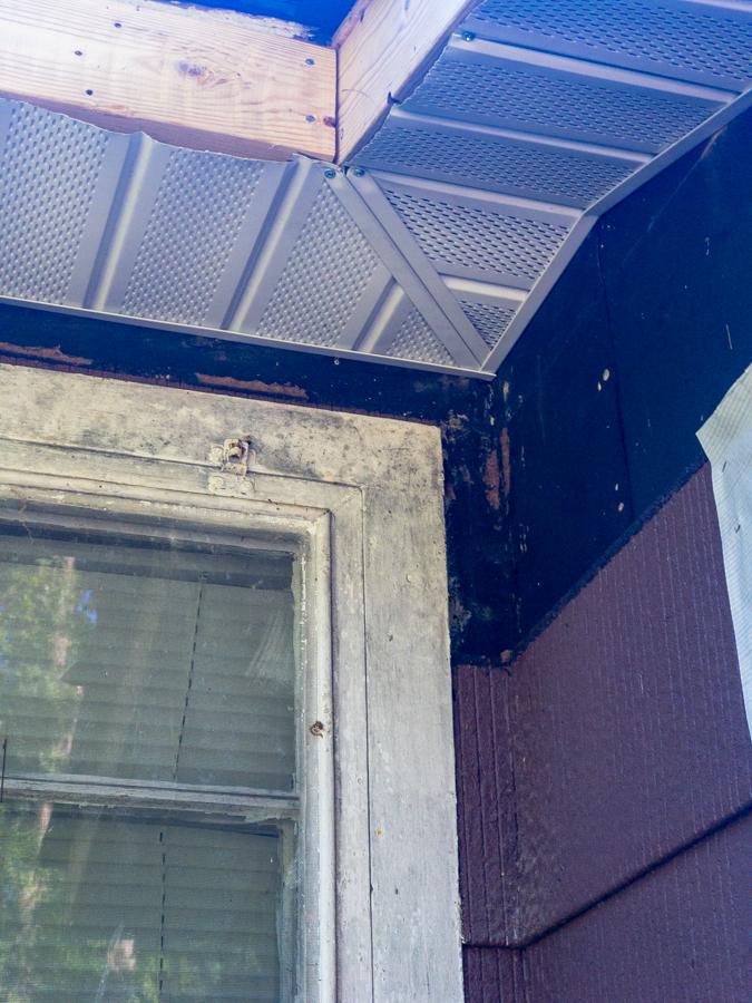 Corner Detail - South Side Soffit Installation