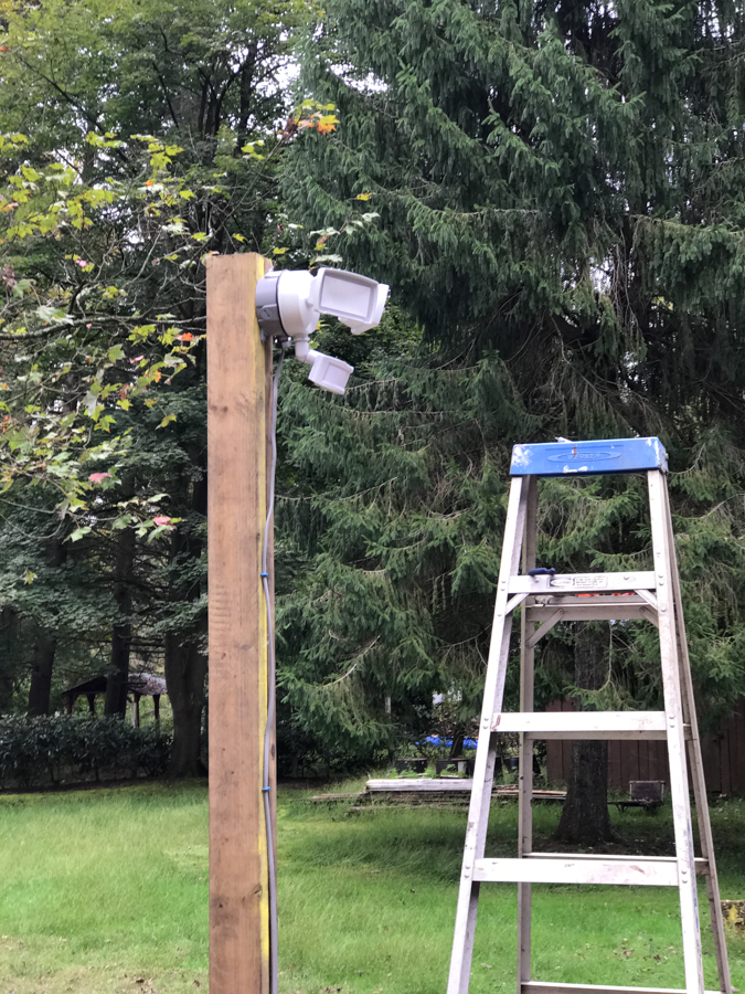 Security Light Mounted