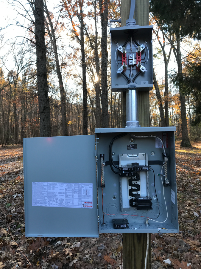 Temporary Electric - Meter Base & Load Center