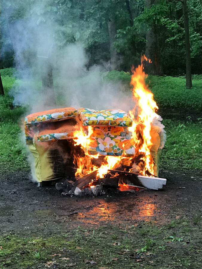 Burning Yellow Couch