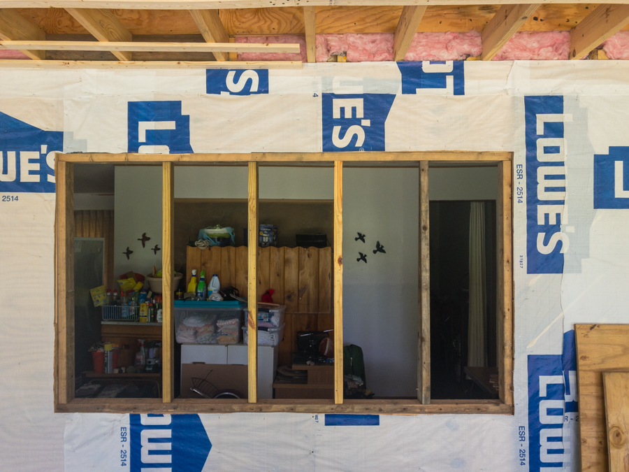 Temporary Stud Framing - Picture Window