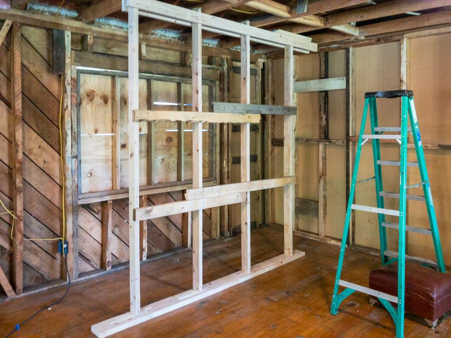 Temporary Ceiling Framing
